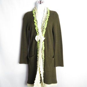 Anthro Field Flower Cardigan Duster Sz Small